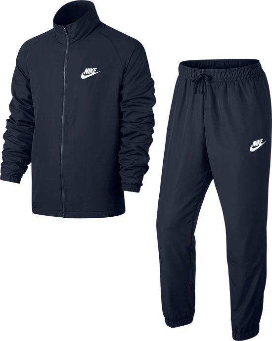 Nike Nsw Woven Basic Trainingspak Heren - Obsidian/(White) - Maat L