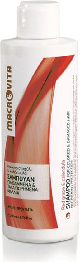Macrovita Shampoo voor Gekleurd en Beschadigd Haar - zonder SLS