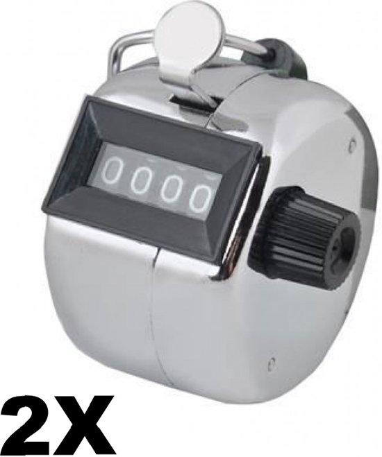 Handmatige klik teller - Handteller - Hand Tally Counter - Personenteller - Set van 2
