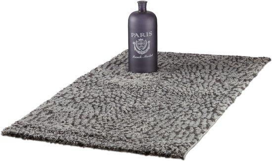 bol.com | relaxdays vloerkleed Shaggy - grijs tapijt met patroon ...