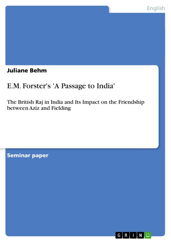 Bol Em Forsters A Passage To India Ebook Juliane Behm