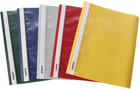 Snelhechtmap, geassorteerde kleuren, pak van 10 stuks