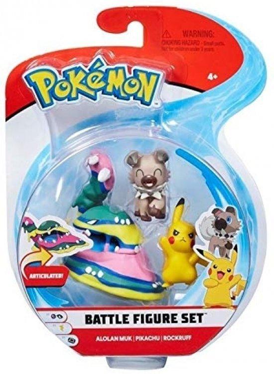 """2/"""" /& 3/"""" Pokémon Battle 3 Figure Pack Dartrix//Sandygast//Mareanie"""