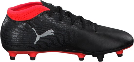 PUMA ONE 18.4 FG Jr Voetbalschoenen Kids - Black/Silver/Red Blast