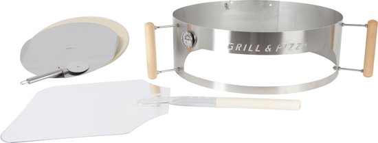 Grill- & Pizzaring Deluxe Set Aluminium