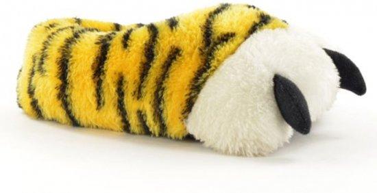 tijgerpoot pantoffel geel/wit 34-35