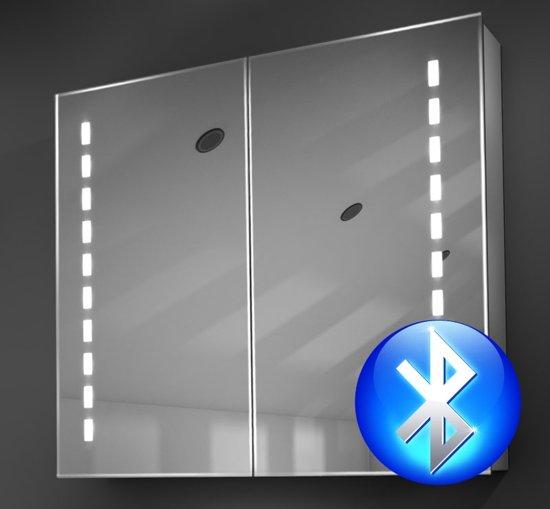 bol.com | Aluminium badkamer spiegelkast met Bluetooth audio ...