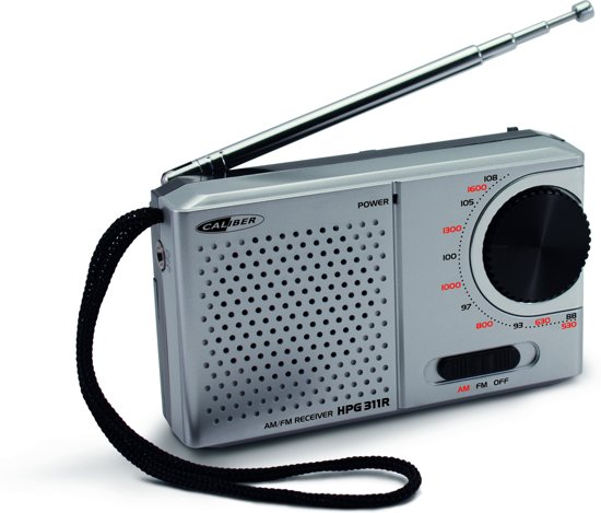 Caliber HPG311R - Draagbare FM AM radio - Grijs