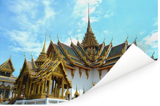 Koninklijk paleis van Bangkok in het Aziatische Thailand Poster 180x120 cm - Foto print op Poster (wanddecoratie woonkamer / slaapkamer) XXL / Groot formaat!