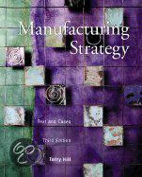 Manufacturing Strategies
