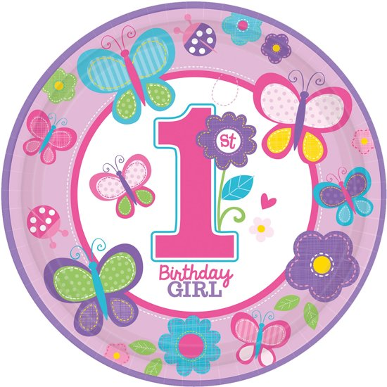 Bol Com Bordjes Eerste Verjaardag 1 Birthday Girl 8 Stuks