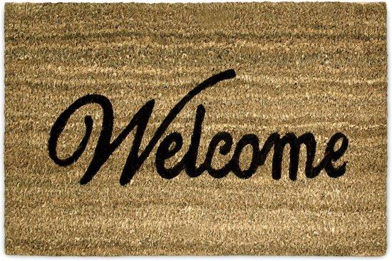 Favoriete bol.com   relaxdays Deurmat / voetmat - Deur mat met tekst: WELKOM HN62