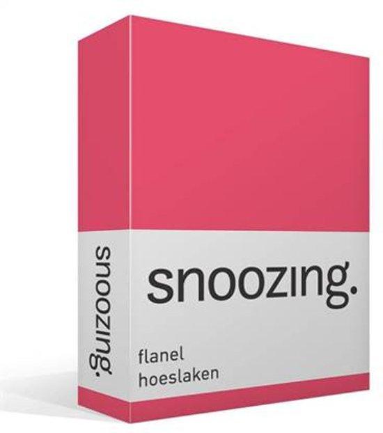 Snoozing flanel hoeslaken Fuchsia Lits-jumeaux (200x210/220 cm) (190 fuchsia)