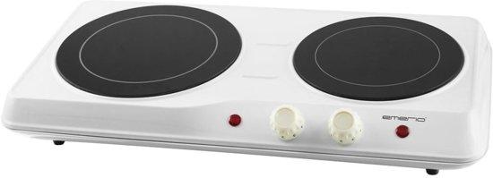 Emerio HP-108629 Tafelblad Infrarood Zwart, Wit kookplaat