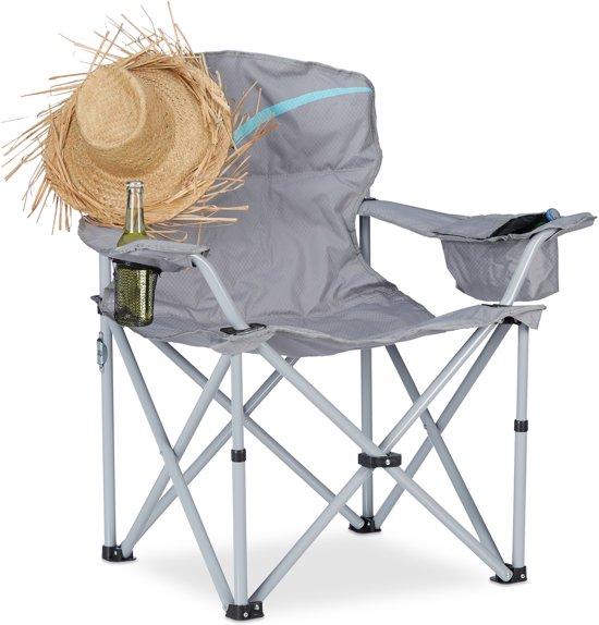 Klapstoel Kind Camping.Relaxdays Campingstoel Klapstoel Visstoel Bekerhouder Vouwstoel Camping Tuinstoel Grijs