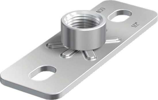 FLAM grondplaat v/beugelbev GP, staal, (bxlxh) 40x120x19mm, el verz