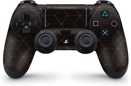 Playstation 4 Controller Skin Hexagon Oranje- PS4 Controller Sticker