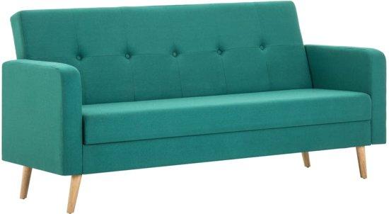 vidaXL Bank stof groen
