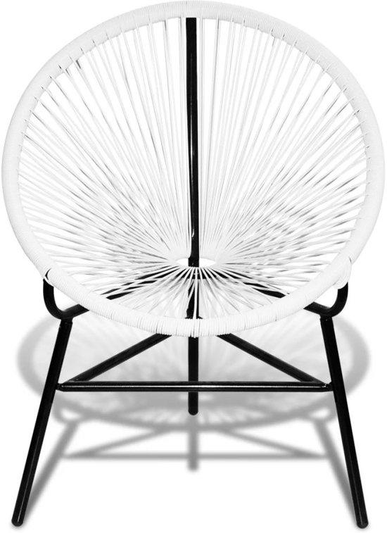 bol com   Ovalen rieten stoel (wit)