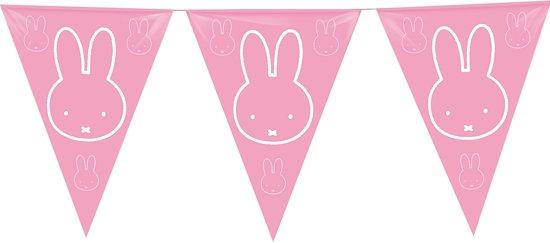 Vlaggenlijn Nijntje roze - 10 meter