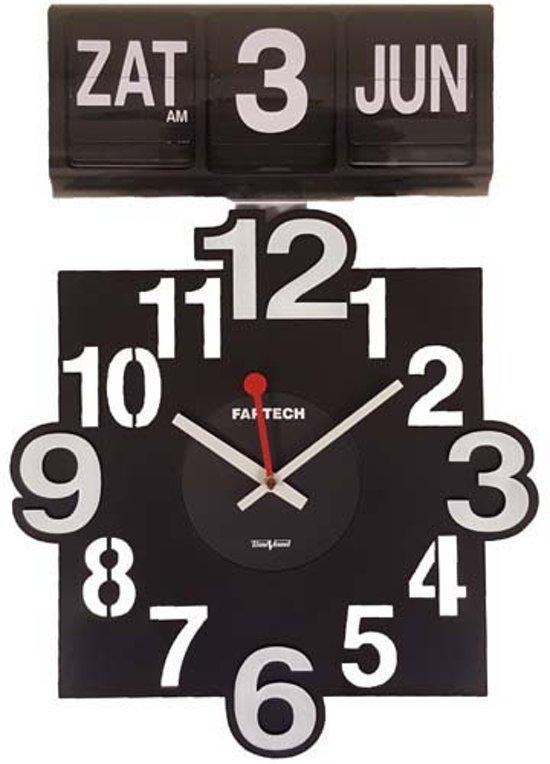 Fartech analoge kalenderklok - Flipklok -