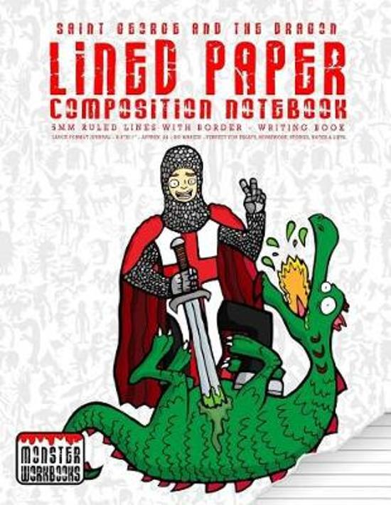 Saint George and the Dragon - Lined Paper Composition Notebook