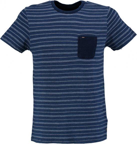 Petrol stevig zacht blauw slim fit shirt valt kleiner - Maat S