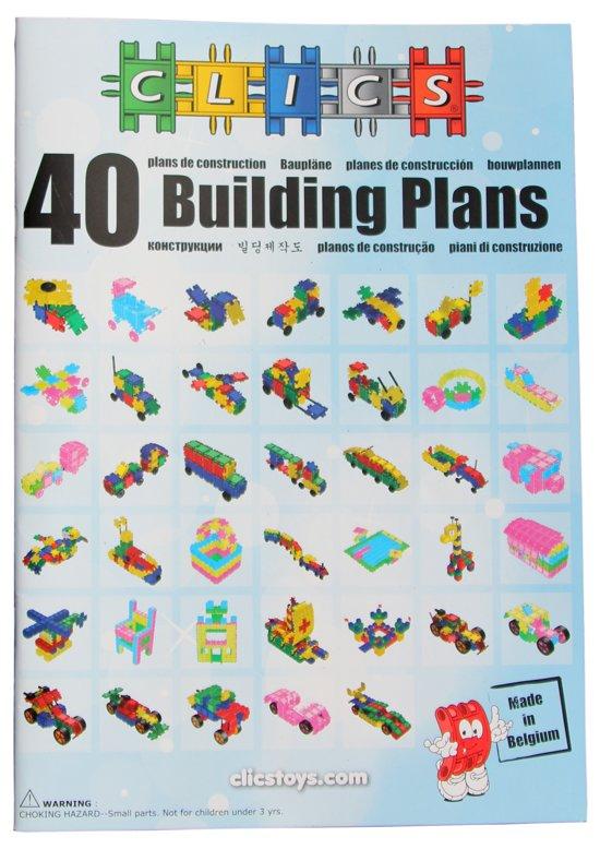 Clics Bouwplannenboek 40 in 1 Constructie blokken
