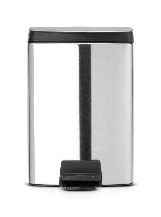 Brabantia Rechthoekige Pedaalemmer 25 Liter.Brabantia Silent Prullenbak 10 L Matt Steel