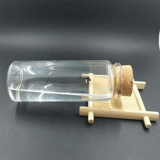 Glazen pot met kurk deksel grote lege glas for Decoratie fles