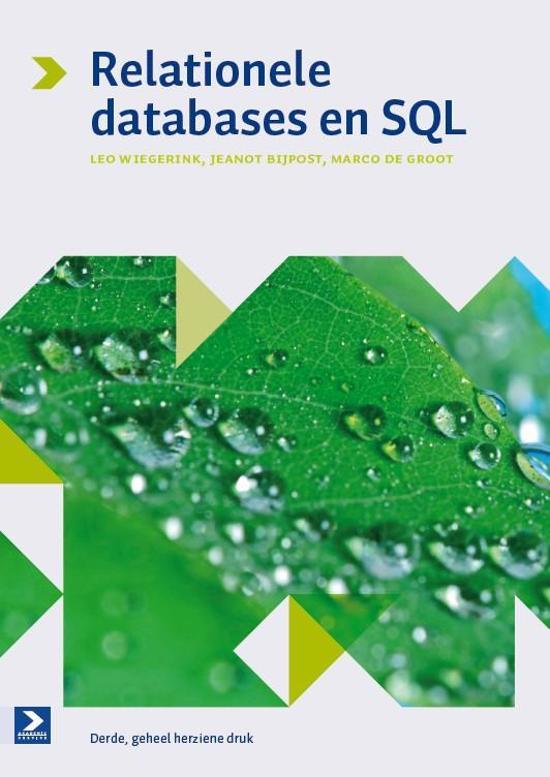 Relationele databases en SQL - Leo Wiegerink