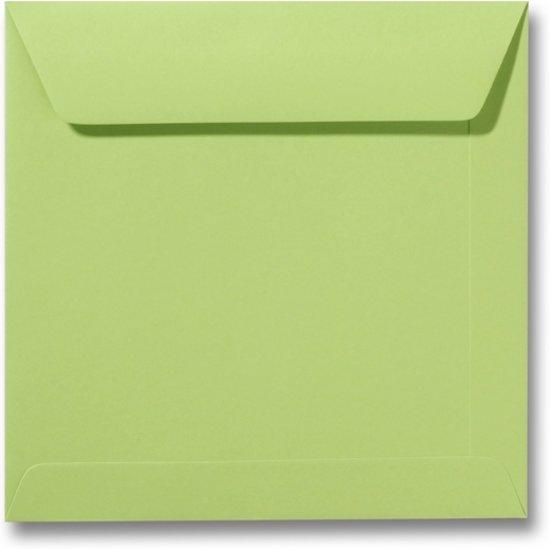 Envelop 17 x 17 Lindegroen, 25 stuks