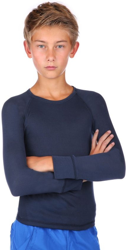 Thermoshirt kind donkerblauw unisex