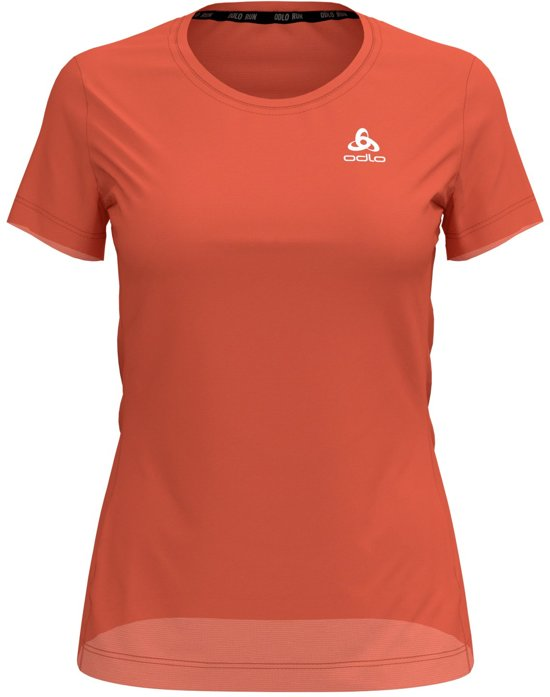 Odlo Bl Top Crew Neck S/S Element Light Special Sportshirt Dames - Hot coral