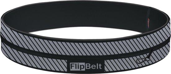 Flipbelt Reflective - Running belt - Zwart - Maat XS