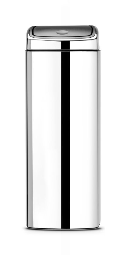 Brabantia Touch Bin Vierkant 25 Liter Rvs Mat.Brabantia Touch Bin Prullenbak 25 L Brilliant Steel