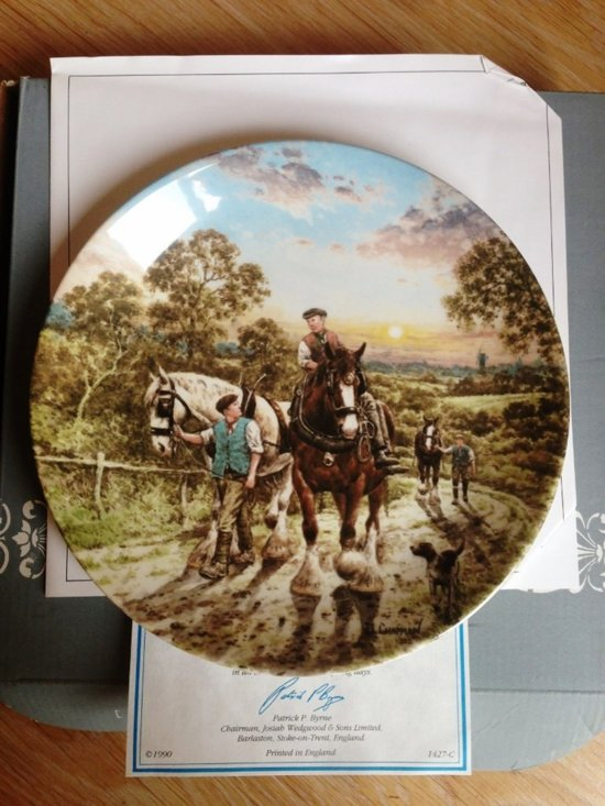 "Wedgwood ""End of the day"" met Certificaat van Echtheid"