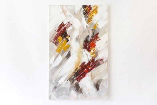 Hand geschilderd olieverfschilderij op doek 75 bij 120 cm. Van een naakte vrouw.