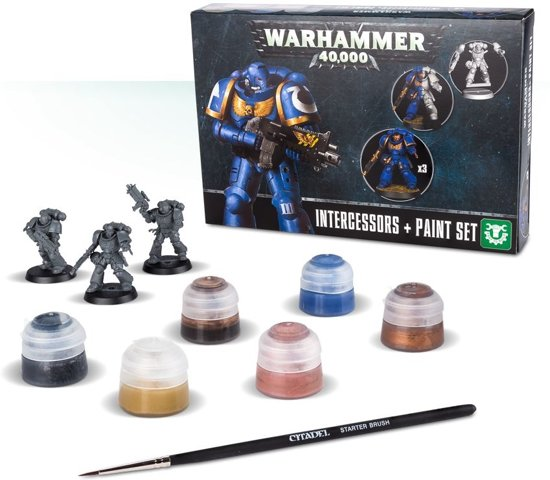 Afbeelding van Games Workshop Warhammer Intercessors & Paint Set 10stuk(s) speelgoed