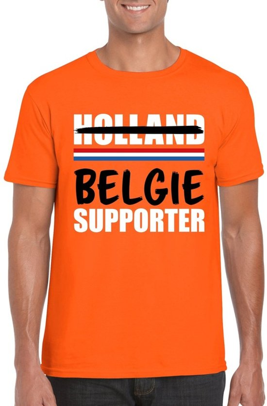 Oranje Belgie shirt voor teleurgestelde Holland supporters - Rode duivels supporter t-shirt XL