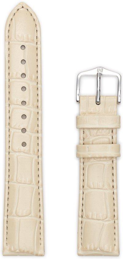 Hirsh Horlogeband -  Louisianalook Beige - Leer - 20mm
