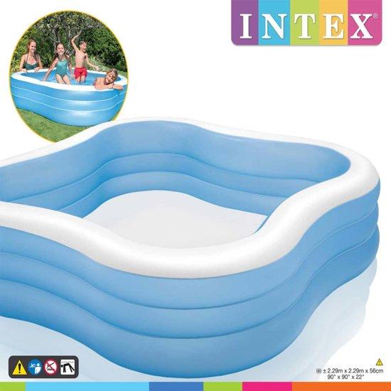 Intex Familiezwembad Beach Wave 229x229x56 cm 57495NP