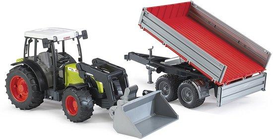 Bruder 02112 - Claas Nectis 267 F tractor met voorlader en kiepwagen