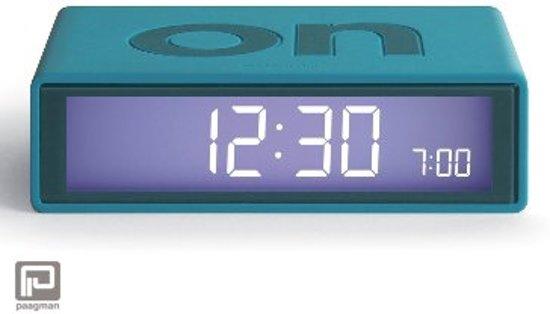 Wekkerradio Met Licht : Bol lexon flip lcd wekker licht blauw groen turquoise
