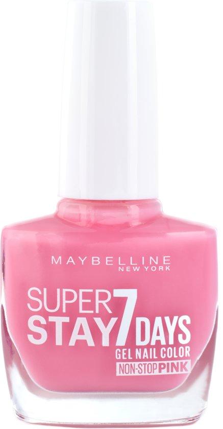 Maybelline Superstay 7 Days Flushed Pink 120 - nagellak