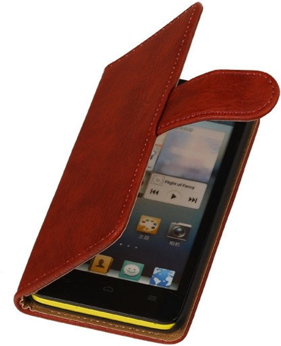 MP Case Rood Houtlook Huawei Ascend G7 Wallet Book Case in Volkel
