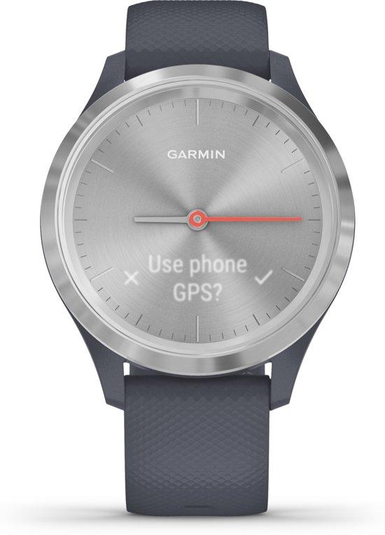 Garmin Vivomove 3S - hybride smartwatch - Blauw/zilver