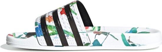 Adidas Adilette W Dames Slippers - Ftwr White/core Black/ftwr White