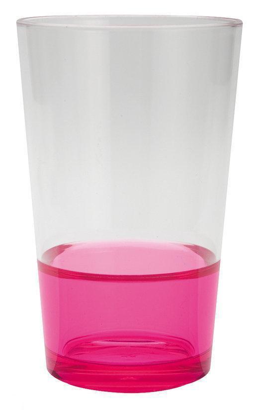 Zak!Designs Fizz Drinkbeker - 30 cl - Roze - Set van 6 stuks