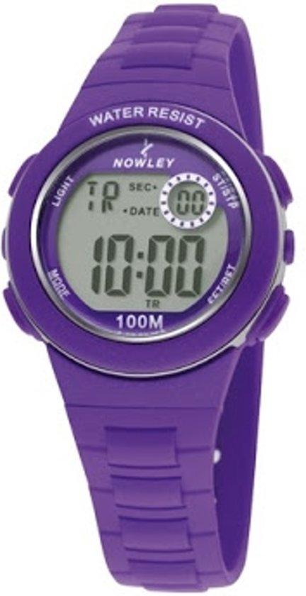 Nowley 8-6199-0-4 digitaal horloge 32 mm 100 meter paars
